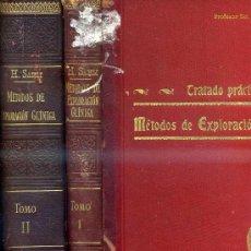Libros antiguos: H. SAHLI : EXPLORACIÓN CLÍNICA - 2 TOMOS (1910) CON ILUSTRACIONES Y LÁMINAS EN COLOR. Lote 30695046