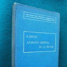Libros antiguos: CIRUGIA DEL APARATO GENITAL DE LA MUJER - DR. R. PROUST - LIBRERIA SINTES -1929 - 2ª EDICION ESPAÑOL. Lote 30704639