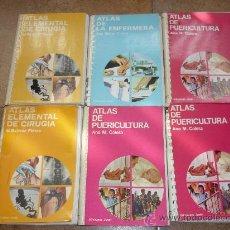 Libros antiguos: 6 LIBROS ATLAS DE LA ENFERMERA ATLAS ELEMENTAL DE LA CIRUGIA Y DE PUERICULTURA EDICIONES JOVER 1976. Lote 31124977