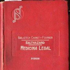 Libros antiguos: BALTHAZARD: MEDICINA LEGAL. Lote 31218758