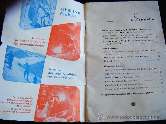 Libros antiguos: LA REVUE CHIBRET. ETUDES SUR LA BIOCHIMIE DU CRISTALLIN. Nº 19. 64 PÁGES. - Foto 2 - 31718584