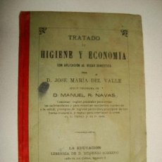 Libros antiguos: TRATADO DE HIGIENE Y ECONOMÍA CON APLICACIÓN AL HOGAR DOMÉSTICO (1892). Lote 32205424
