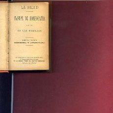 Libros antiguos: LA SALUD, MANUAL DE HOMEOPATIA PARA LAS FAMILIAS. Lote 23843356