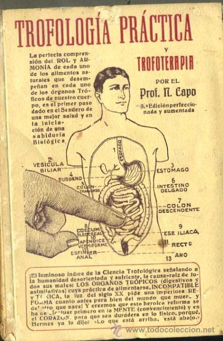 N. CAPO : TROFOLOGÍA PRÁCTICA Y TROFOTERAPIA (1926) NATURISMO - FIRMADO POR EL AUTOR (Libros Antiguos, Raros y Curiosos - Ciencias, Manuales y Oficios - Medicina, Farmacia y Salud)