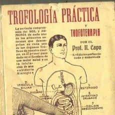 Libros antiguos: N. CAPO : TROFOLOGÍA PRÁCTICA Y TROFOTERAPIA (1926) NATURISMO - FIRMADO POR EL AUTOR. Lote 33026144