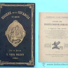 Libros antiguos: HIGIENE DE LA INFANCIA. POR EL DR. F. VIDAL SOLARES. 6ª EDICION AUMENTADA Y CORREGIDA. POST A 1887.. Lote 32380861