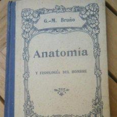 Libros antiguos: ANATOMÍA Y FISIOLOGÍA DEL HOMBRE. G.M.BRUÑÓ. PARÍS.. Lote 32534104