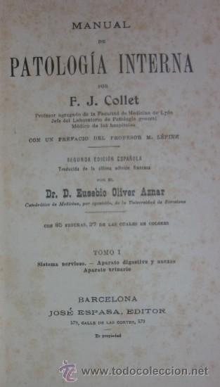 Libros antiguos: MANUAL DE PATOLOGIA INTERNA - 2 TOMOS - Foto 2 - 32568036