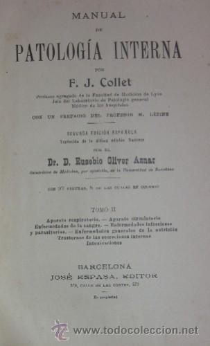 Libros antiguos: MANUAL DE PATOLOGIA INTERNA - 2 TOMOS - Foto 5 - 32568036