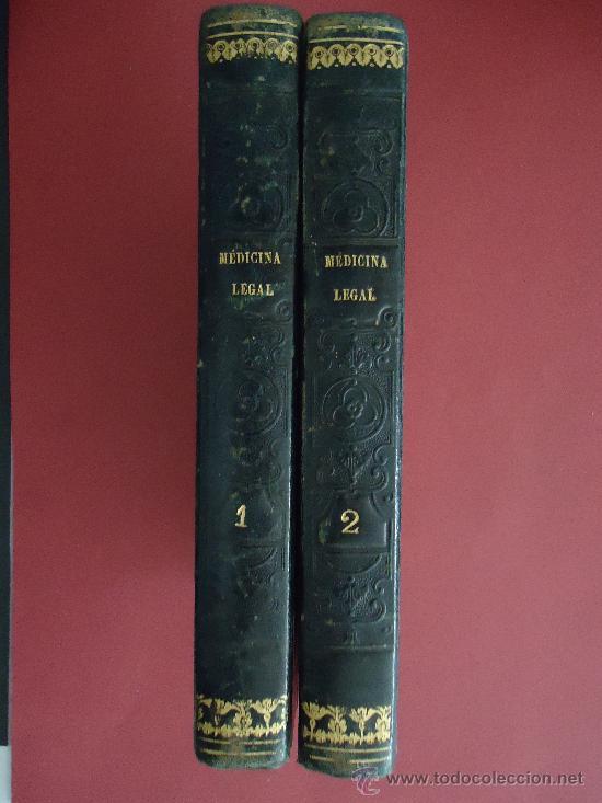 'TRATADO DE MEDICINA Y CIRUGIA LEGAL' PEDRO MATA. 2 TOMOS 1846 2ª EDICION (Libros Antiguos, Raros y Curiosos - Ciencias, Manuales y Oficios - Medicina, Farmacia y Salud)