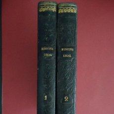 Libros antiguos: 'TRATADO DE MEDICINA Y CIRUGIA LEGAL' PEDRO MATA. 2 TOMOS 1846 2ª EDICION. Lote 32771386
