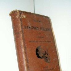 Libros antiguos: RESUMÉ D'ANATOMIE APPLIQUEE (V. PAULET) - PARIS, G. MASSON, ÉDITEUR, 1875. Lote 116593566