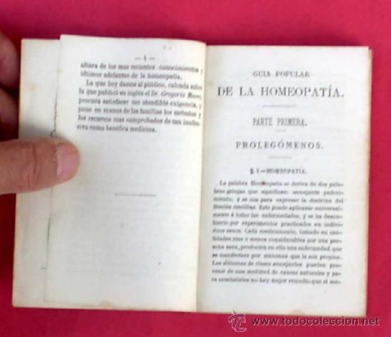 Libros antiguos: GUÍA POPULAR DE HOMEOPATÍA. SE VENDE EN LA GRAN FARMACIA HOMEOPÁTICA DEL DR, GRAU ALAS, 1870. 1ª ED. - Foto 3 - 34139079