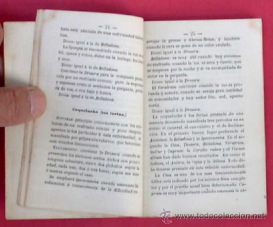Libros antiguos: GUÍA POPULAR DE HOMEOPATÍA. SE VENDE EN LA GRAN FARMACIA HOMEOPÁTICA DEL DR, GRAU ALAS, 1870. 1ª ED. - Foto 5 - 34139079
