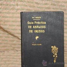 Libros antiguos: 2117- GUIA PRACTICA DE ANALISIS DE ORINA. DR. KONYA. EDIT. MANUEL MARIN. 1921.. Lote 34670803