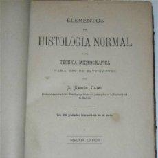 Libros antiguos: ELEMENTOS DE HISTOLOGÍA NORMAL Y DE TECNICA MICROGRAFÍCA. Lote 34996906