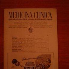 Libros antiguos: LIBRO MEDICINA CLINICA TOMO X I I -Nº 2 -PUBLICIDAD EN EL INTERIOR. Lote 35190969