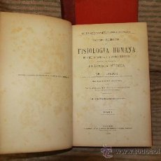 Libros antiguos: 2311- TRATADO ELEMENTAL DE FISIOLOGIA HUMANA. L. LANDOIS. EDIT. REVISTA MEDICA. 1894. 2 TOMOS.. Lote 52497339
