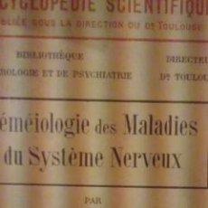 Libros antiguos: SEMEIOLOGIE DES MALADIES DU SYSTÉME NERVEUX (PARÍS, 1907). Lote 36123574