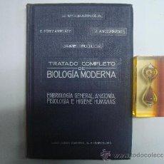 Libros antiguos: EMBRIOLOGIA GENERAL.TRATADO DE BIOLOGIA MODERNA. APROX. 1920.FOLIO. ILUSTRADO.. Lote 36323687