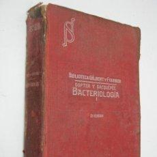Libros antiguos: SALVAT 1923 - MANUAL DE BACTERIOLOGIA - GILBERT Y FOURNIER - 198 FIGURAS. Lote 36477513