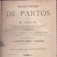 Libros antiguos: TRATADO COMPLETO DE PARTOS. II TOMOS . Lote 32262037