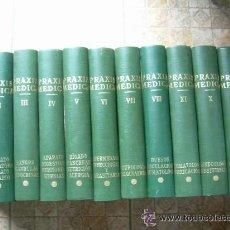 Libros antiguos: OFERTA ESTRELA ENCICLOPEDIA PRAXIS MEDICA 12 VOLUMENES SIMIL PIEL. Lote 50557733