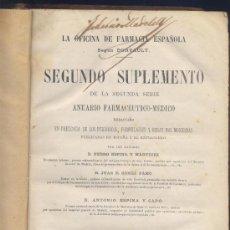 Libros antiguos: LA OFICINA DE FARMACIA ESPAÑOLA-DORVAULT-MADRID 1882/1183/1184. Lote 36806256