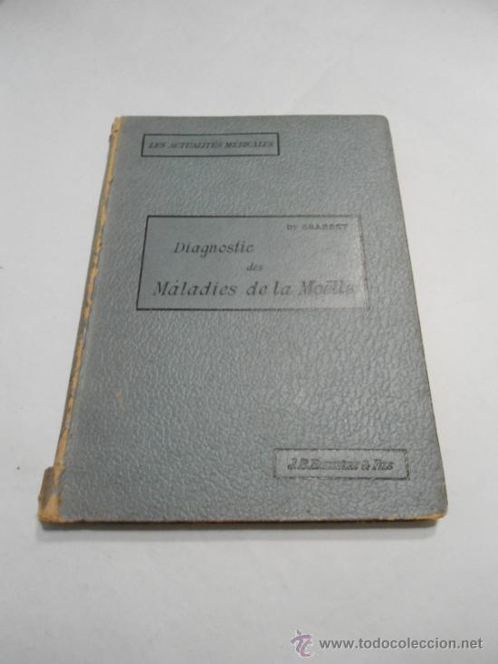 DIAGNOSTIC DES MALADIES DE LA MOELLE ACTUALITES MEDICALES DR. GRASSET 1899 (Libros Antiguos, Raros y Curiosos - Ciencias, Manuales y Oficios - Medicina, Farmacia y Salud)