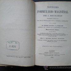 Libros antiguos: L70- NOVÍSIMO FORMULARIO MAGISTRAL A. BOUCHARDAT - IMP. DE CARLOS BAILLY-BAILLIÉRE AÑO 1885. Lote 56246238