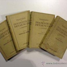 Libros antiguos: TRATADO DE DIAGNOSTICO DIFERENCIAL - TOMOS I, II, III Y IV. Lote 38440608