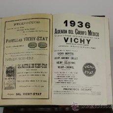 Libros antiguos: 5935- AGENDA DEL CUERPO MEDICO.FRANCISCO DIEGUEZ. MANUSCRITO. 1936.. Lote 38512587