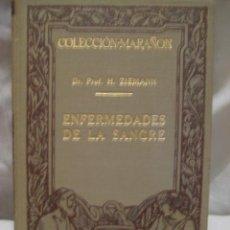 Libros antiguos: ENFERMEDADES DE LA SANGRE. ZIEMANN HANS. MANUEL MARIN. BARCELONA. 1930. . Lote 3463681