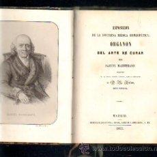 Libros antiguos: ORGANON DEL ARTE DE CURAR. A-MEDNAT-210 . Lote 39299755