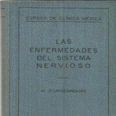 Libros antiguos: LAS ENFERMEDADES DEL SISTEMA NERVIOSO. H. CURSCHAMNN. EDITORIAL LABOR. BARCELONA. 1929. Lote 39401853