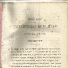 Libri antichi: TRATADO DE ENFERMEDADES DE MUJERES. GÓMEZ TORRES. MUY ANTIGUO. Lote 39614413