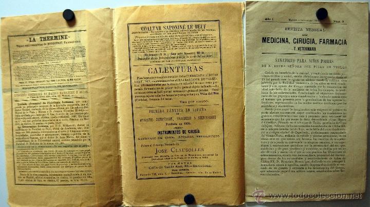 Libros antiguos: REVISTA DE MEDICINA, CIRUGÍA, FARMACIA EDITORIAL BAILLY BAILLIERE E HIJOS // MADRID SEPTIEMBRE 1896 - Foto 2 - 39907364