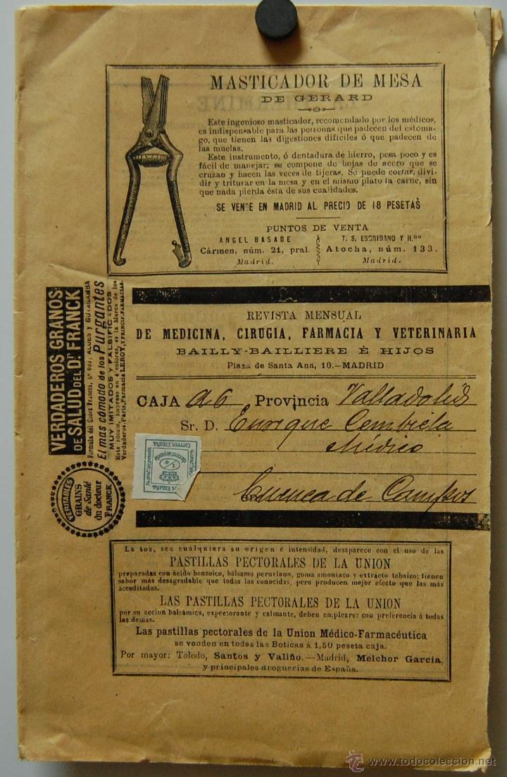 Libros antiguos: REVISTA DE MEDICINA, CIRUGÍA, FARMACIA EDITORIAL BAILLY BAILLIERE E HIJOS // MADRID SEPTIEMBRE 1896 - Foto 3 - 39907364