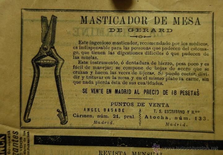 Libros antiguos: REVISTA DE MEDICINA, CIRUGÍA, FARMACIA EDITORIAL BAILLY BAILLIERE E HIJOS // MADRID SEPTIEMBRE 1896 - Foto 4 - 39907364