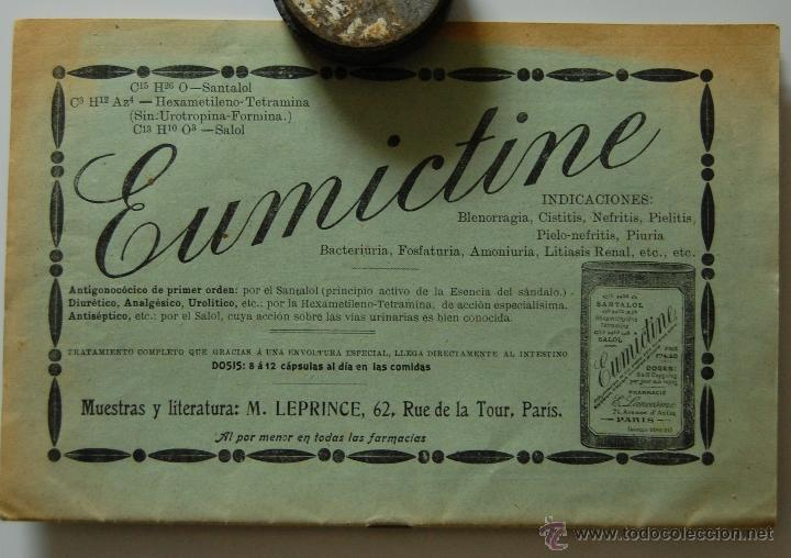 Libros antiguos: REVISTA MÉDICA FARMACIA. EL MES TERAPEUTICO. AÑO IX, Nº8, 1º SEPTIEMBRE DE 1908 // EUMICTINE - Foto 2 - 39914011