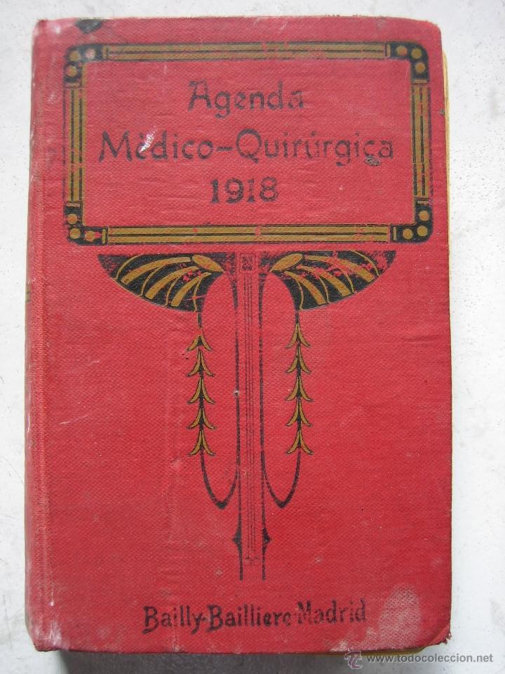 AGENDA MÉDICO-QUIRÚRGICA 1918 POR BAILLY BAILLIERE. MADRID (Libros Antiguos, Raros y Curiosos - Ciencias, Manuales y Oficios - Medicina, Farmacia y Salud)