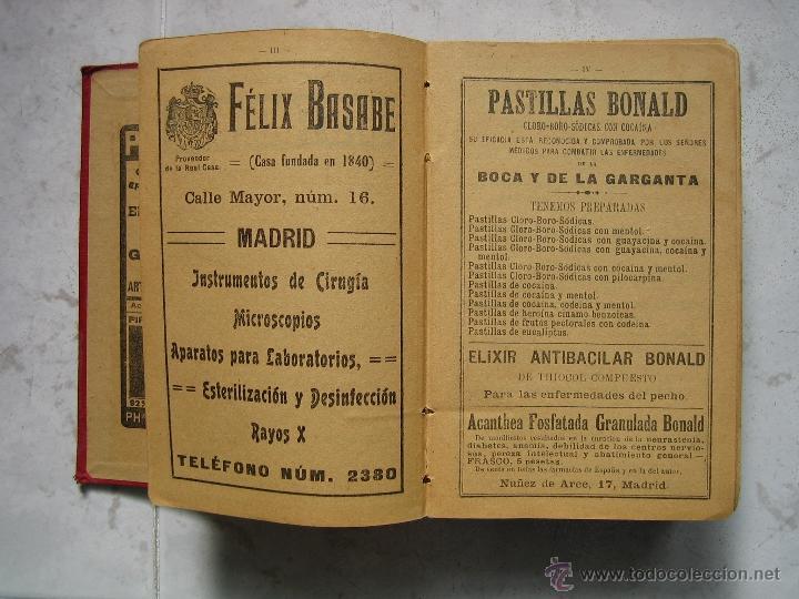 Libros antiguos: Agenda médico-quirúrgica 1918 por Bailly Bailliere. Madrid - Foto 4 - 39915821