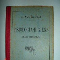 """Libros antiguos: LIBRO """"FISIOLOGÍA-HIGIENE, GRADO ELEMENTAL"""" DE JOAQUÍN PLA. DALMÁU CARLES Y C ª EDITORES.GERONA 1912. Lote 40276301"""