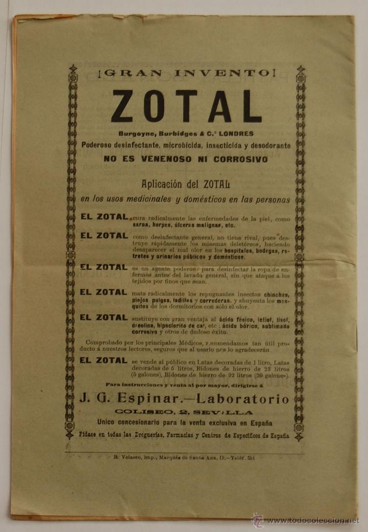 Libros antiguos: REVISTA EL PORVENIR MEDICO-FARMACEUTICO MONTEPÍO // AÑO 1902 - Foto 4 - 40472685