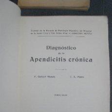 Libros antiguos: DIAGNOSTICO DE LA APENDICITIS CRÓNICA. 1ª EDICIÓN ,SALVAT. 1933. POR F.GALLART MONÉS Y T. A. PINÓS. Lote 41181549