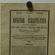 Libros antiguos: REVISTA FOLLETO MONITOR TERAPEÚTICO CON ARTÍCULOS DE MEDICINA Y FARMACIA // AÑO 1911. Lote 41233192