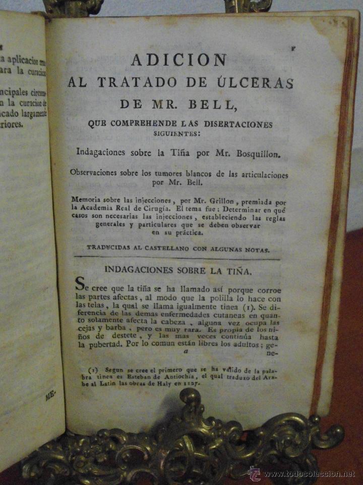 M. BELL. TRATADO TEÓRICO Y PRÁCTICO DE LAS ÚLCERAS. 1790 (Libros Antiguos, Raros y Curiosos - Ciencias, Manuales y Oficios - Medicina, Farmacia y Salud)