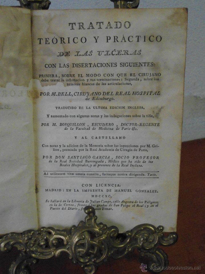 Libros antiguos: M. BELL. TRATADO TEÓRICO Y PRÁCTICO DE LAS ÚLCERAS. 1790 - Foto 2 - 41267929