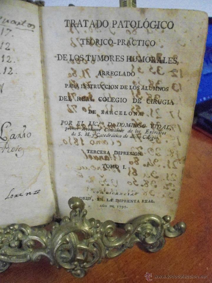 Libros antiguos: DOMINGO VIDAL. TUMORES HUMORALES. HERIDAS Y ÚLCERAS. 1795 - Foto 2 - 41280864
