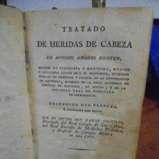 Libros antiguos: RICHTER. TRATADO DE HERIDAS DE CABEZA. 1802. Lote 41281282